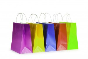 farbige papiertaschen