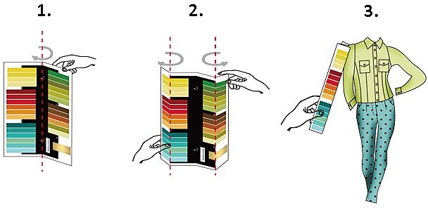 Jahreszeitentyp finden mit Farbpass
